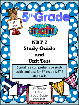 FIFTH GRADE COMMON CORE MATH NBT7-Using Operations of Whol