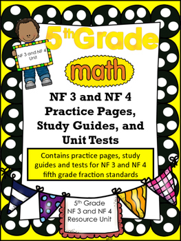 FIFTH GRADE COMMON CORE MATH NF3 and NF4 Unit-Fraction Mul