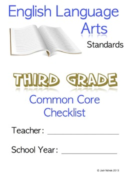 FILL AND SAVE Third Grade (3rd Grade) ELA CCSS Common Core