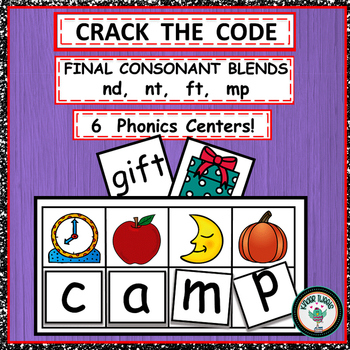 FINAL CONSONANT BLENDS PHONICS CENTER ACTIVITIES