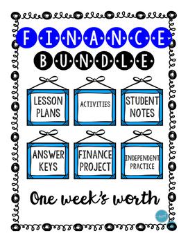 FINANCE Bundle (Lessons, Activities, Practice, Project, An