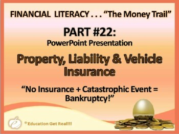FINANCIAL LITERACY–The Money Trail– Part 22 Property, Liab