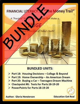 FINANCIAL LITERACY - The Money Trail Series BUNDLE Parts 1