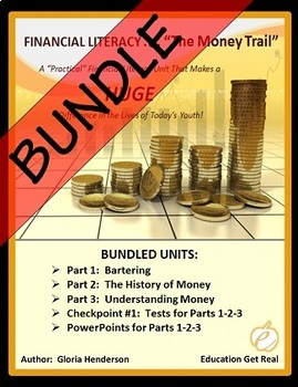 FINANCIAL LITERACY - The Money Trail Series BUNDLE Parts 1