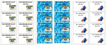 FINDING DORY AND NEMO BUS TAGS EDITABLE