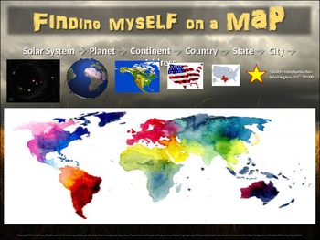 FINDING MYSELF ON A MAP: 30-slide follow-along resource fo