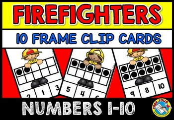 FIRE SAFETY WEEK ACTIVITIES: 10 FRAMES CLIP CARDS: FIRE SA