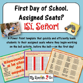 FIRST DAY OF SCHOOL:  ASSIGNED SEATS POWERPOINT TEMPLATE