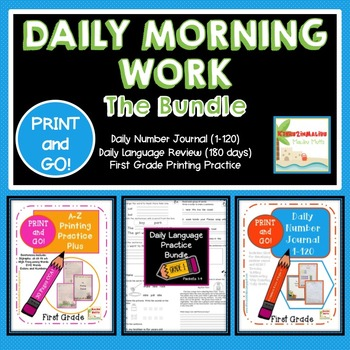 FIRST GRADE Daily Morning Work BUNDLE!!! PRINT AND GO! CCS