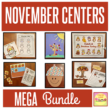 FIRST GRADE FALL LEARNING CENTERS BUNDLE - Differentiated