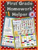 FIRST GRADE HOMEWORK HELPER