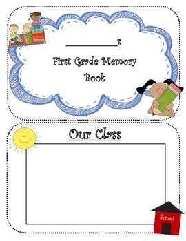 FIRST GRADE MEMORIES YEARBOOK AUTOGRAPH BOOK ~12 PAGE BOOK