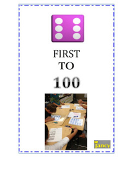 FIRST TO 100 VIDEO-Example of students playing in a small group.