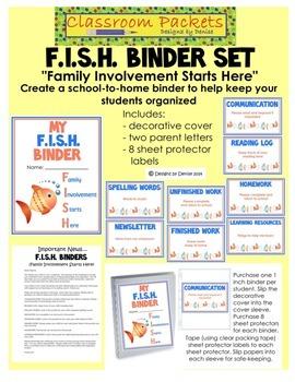 F.I.S.H. School-to-Home Communication Binder Set