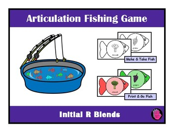 FISHING Game R Blends Make & Take, SPEECH THERAPY, Articulation