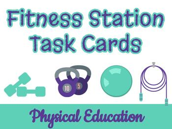 FITNESS STATIONS task cards! Print this circuit and lamina