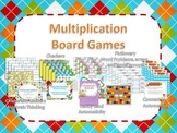 FIVE Multiplication Board Games! Math Centers, Review, or