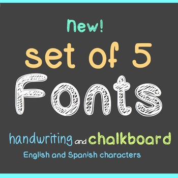 FREE - FIVE New FONTS - Chalkboard and Handwriting - perso