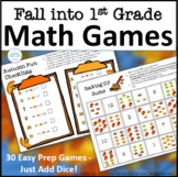 First Grade Math Fall Partner Games