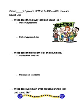 FIrst day of school: what does the school look like/sound
