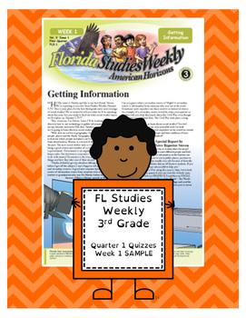 FL Studies Weekly 3rd Grade Quarter 1 Quizzes - Week 1 SAMPLE