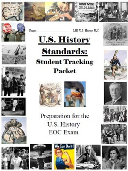 FL U.S. History Standards Tracking Packet- Year Long Tool