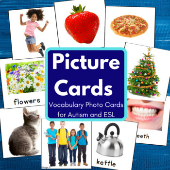 #presidentsday VOCABULARY PHOTO CARDS for Speech Therapy,