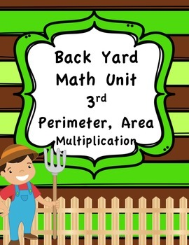 3rd Grade Area and Perimeter Unit with real life context