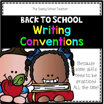 Back to School Writing Conventions