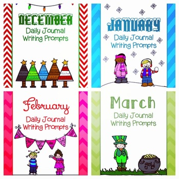 December, January, February, March Writing Prompts