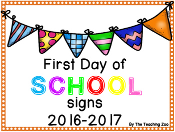 FREEBIE First Day of School Signs