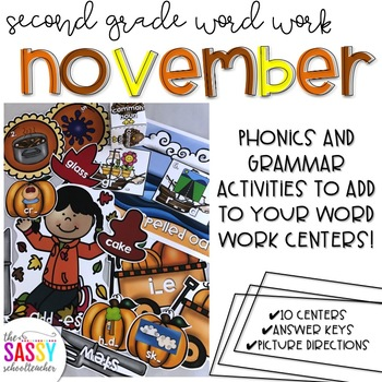 Second Grade Word Work November
