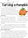 The Traition of Carving a Pumpkin Text and Question Set -