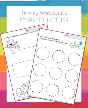 FLASH FREEBIE Tracing Worksheets {C and B&W}