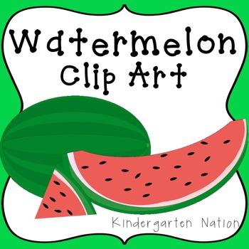 Watermelon Clipart ~ Sliced Pieces & Whole Fruit