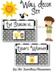 Weather & Seasons Set - Black & White Polka Dot Theme