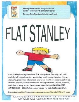 FLAT STANLEY ELA Reading Literature Novel Study Guide CCSS