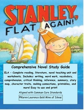 FLAT STANLEY, Stanley, Flat Again ELA Reading Literature S