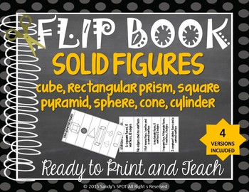 FLIP BOOK Solid Figures Virginia SOL 3.14