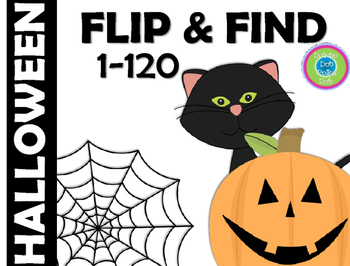 FLIP & FIND ~ Math Center 1-120 ~ HALLOWEEN!