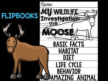 FLIPBOOKS : Moose-  Polar Animals : Research, Writing, and