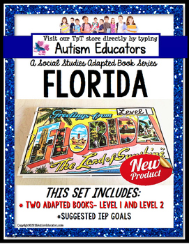 FLORIDA State Symbols Adapted Book for Special Education a