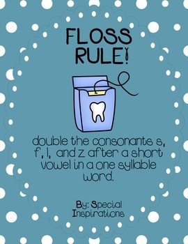 FLOSS Double Consonants (ZZ, SS, FF, LL) Rule Poster and P