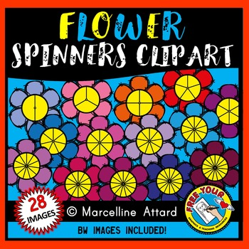 FLOWER SPINNERS CLIPART: SPRING CLIPART: FLOWERS CLIPART