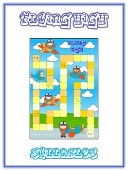 FLYING HIGH Syllables - ELA First Grade Folder Game - Word