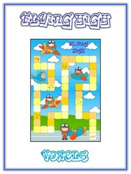 FLYING HIGH Vowels- ELA First Grade Folder Game - Word Wor