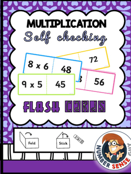 FOLDING/SELF CHECKING MULTIPLICATION CARDS