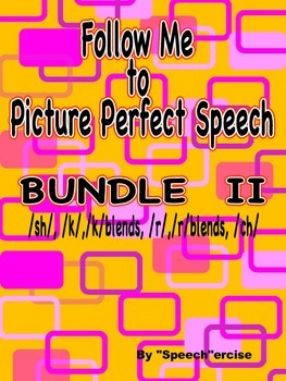 FOLLOW ME TO PICTURE PERFECT SPEECH BUNDLE II- /K/, /SH/,/
