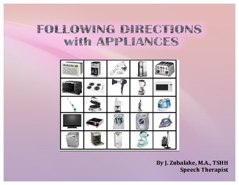 FOLLOWING DIRECTIONS with APPLIANCES for Speech Therapy