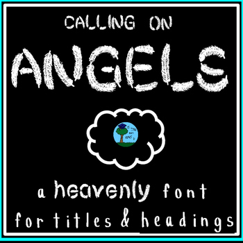 """FONT: """"Calling on Angels"""" feathers: bird/nature unit (pers"""